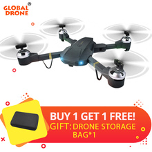 Global Drone GW58 Foldable Drones with Camera HD 720P Live Video Wifi Quadrocopter FPV Selfie RC Dron VS XS809HW SG700 E58(China)