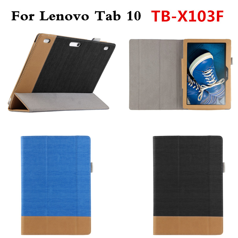 Fashion Splicing color PU Leather Stand Case Protective Skin For Lenovo Tab 10 TB-X103F TB X103F 10.1 Tablet Book Cover
