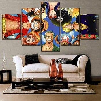 Duvar Sanatı Ev Dekoratif Tuval HD Baskı Boyama 5 Panel Anime Tek Parça Rolex Poster Oturma Odası Veya Yatak Odası Için modern Sanat