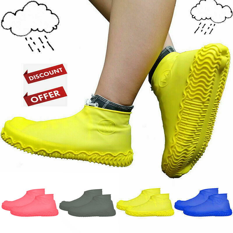 Rainy Day Shoes Boots Cover Hot Anti-slip Reusable Latex Shoe Covers Waterproof Rain Boot Overshoes Shoes For Rain Accessories(China)