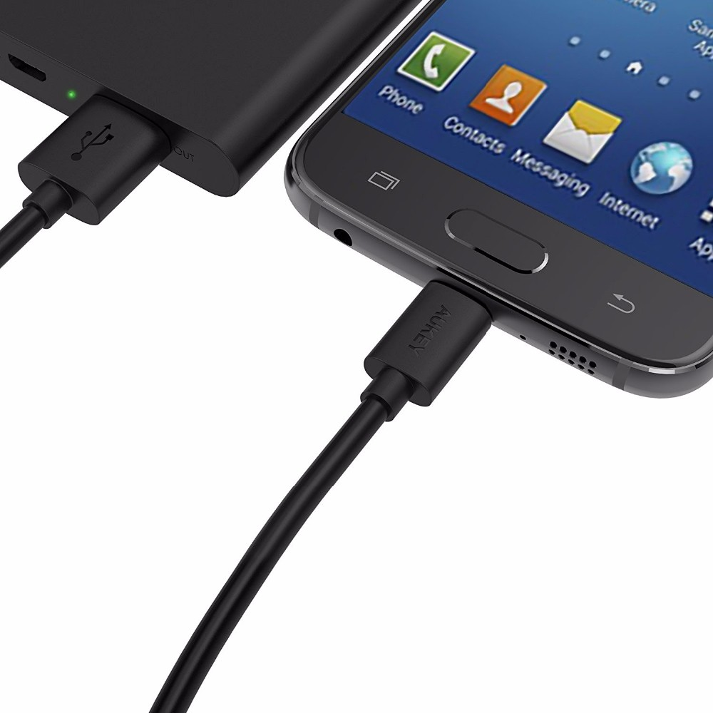 AUKEY (3-pack) USB 2.0 Cable,1x1m Type-C cable + 2×0.3m Micro USB Cable for Phone LG G5 Samsung Xiaomi &More Android Smartphones
