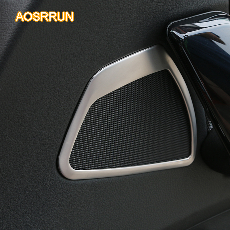 AOSRRUN Aluminum alloy Car Door Speaks cover Car Accessories For BMW F20 118i 120i 135i 116i