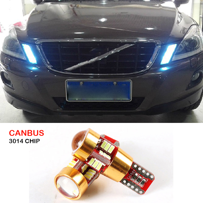 Canbus T10 W5W SMD 3014 27LED Car Wedge Clearance Lights Parking Light For Volvo S60L S80L XC90 C70 V40 V50 V60 XC60 S40 S60 S80