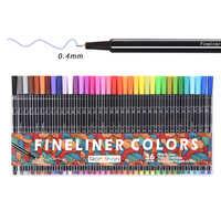 Juego de bolígrafos finos de 36 colores, marcador de bocetos micrón de colores de 0,4mm para colorear para el dibujo de la aguja de la escuela del arte del Manga marcador de Comics
