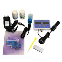 ZEAST Portable Aquarium Electronic Salinity and Dissolved Oxygen Test PH Value On Line Water Quality Meter Monitor 2 Probes Set