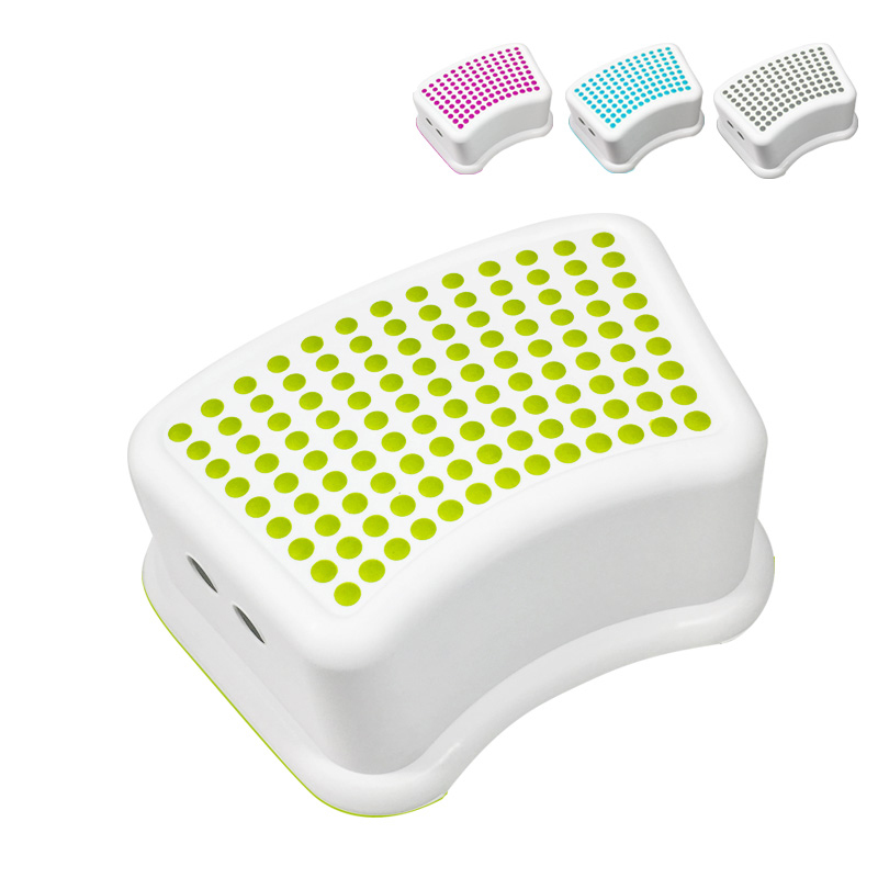 Step Stool For Kids And Adults-Nonslip Surface And Feet In Toilet