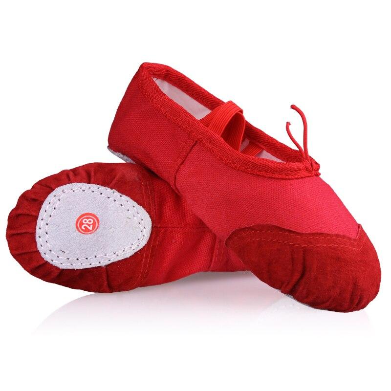 348d3e9e190 Zapatos de Ballet de suela blanda para niños y niñas al por mayor 3-13 años