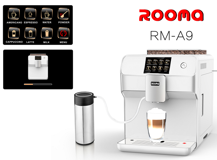 Fully automatic espresso cappucinno ,latte,espresso coffee machine(Factory directly sale,excellent quality (NO MILK POT) 220vfully automatic cappucinno latte espresso coffee machine cafe machine factory directly sale top quality free shipping