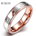 2016 Fashion Titanium Steel Set Auger Jewelry Stainless Steel Rings For Women Size 6 To 9 Alliance Mariage Homme Femme RUIER131