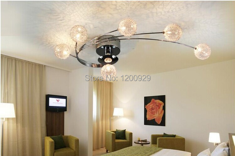 все цены на Free Shipping Aluminum Ball Wave Pendant Chandelier Lamp Lighting Modern Home Decoration Living Room PLL-212