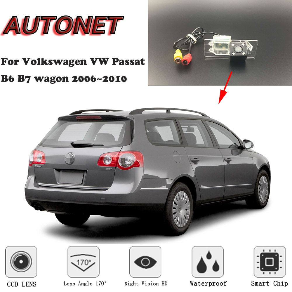 AUTONET Backup Rear View Camera For Volkswagen VW Passat B6 B7 Wagon 2006 2007 2008 2009 2010 Night Vision License Plate Camera