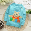 Autumn/Winter sweaters Kids Cartoon pullovers bear knitwear baby girls and boys casual sweater V1013 B