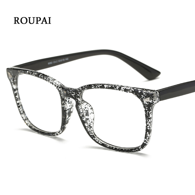 ROUPAI Women\'s Grade Eye Glasses Frame Female Eyewear Square Male ...