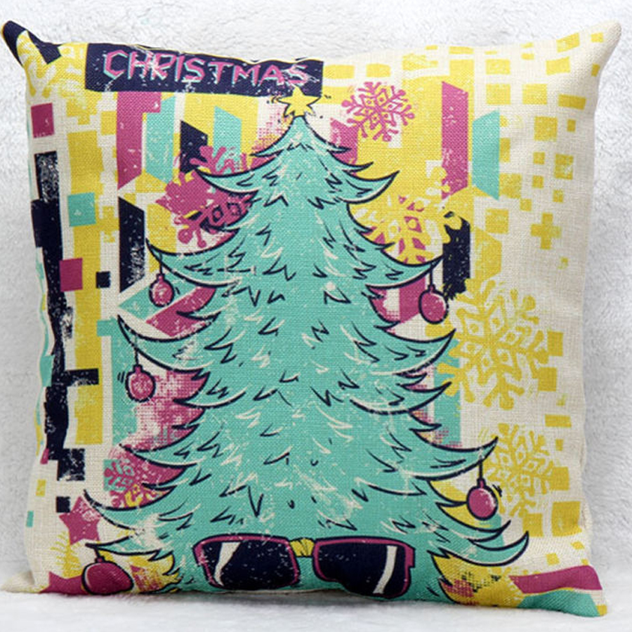 Trend top Abstract hot Christmas tree pillow case home cushions cover decorative pillowcase chair square waist soft pillow case