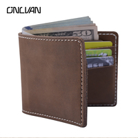 Genuine Leather Handmade Wallet Retro Style Men Women Multi Functional Wallet Purse Card Holder High Quality