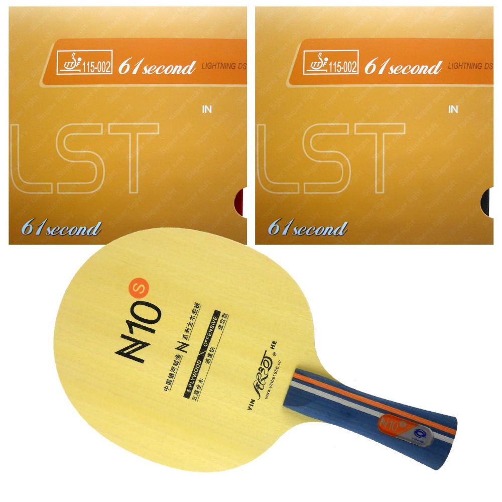 Pro Table Tennis PingPong Combo Racket Galaxy N10s Blade With 2x 61second Lightning DS LST Rubbers Long Shakehand FL
