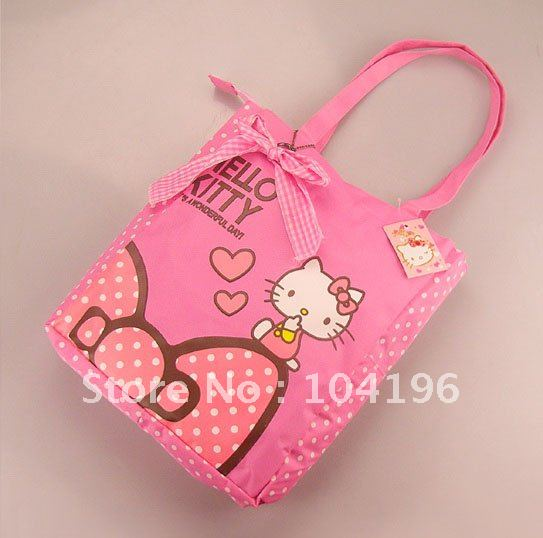 e9d85f2b0 3 Colors Hello Kitty Fashion Waterproof folding Shopping Bag Tote Shoulder  Leisure Hand bag Free Shipping-in Shoulder Bags from Luggage & Bags on ...