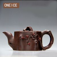 ONEICE ONEICE Plum Pot Authentic Teapot Famous Handmade Mine Old Purple Mud Handicrafts Free Shipping Chinese Gongfu Tea 90ML