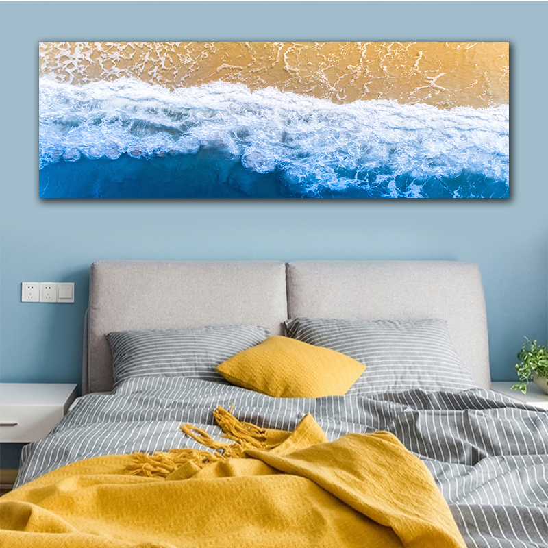 GoldLife Wall Art Home Decor Nordic Landcape Canvas Painting For Living Room Sea Wave Wall Picture Art Print Canvas and Posters in Painting Calligraphy from Home Garden