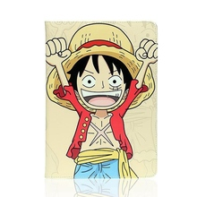 Tablet Case for Apple ipad mini4 One piece Luffy Chopper Zoro Usopp PU leather protective Cover flip stand shell coque para capa