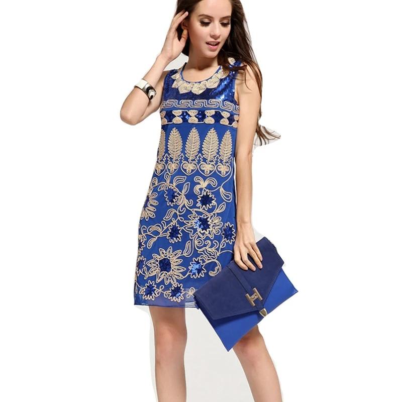 Sequin Vintage Floral Maille Sexy Robe Bleu Noir Rouge Grande Taille Sans Manches Moulante Robes D Ete Style Debardeur Mode Robe Unie Aliexpress