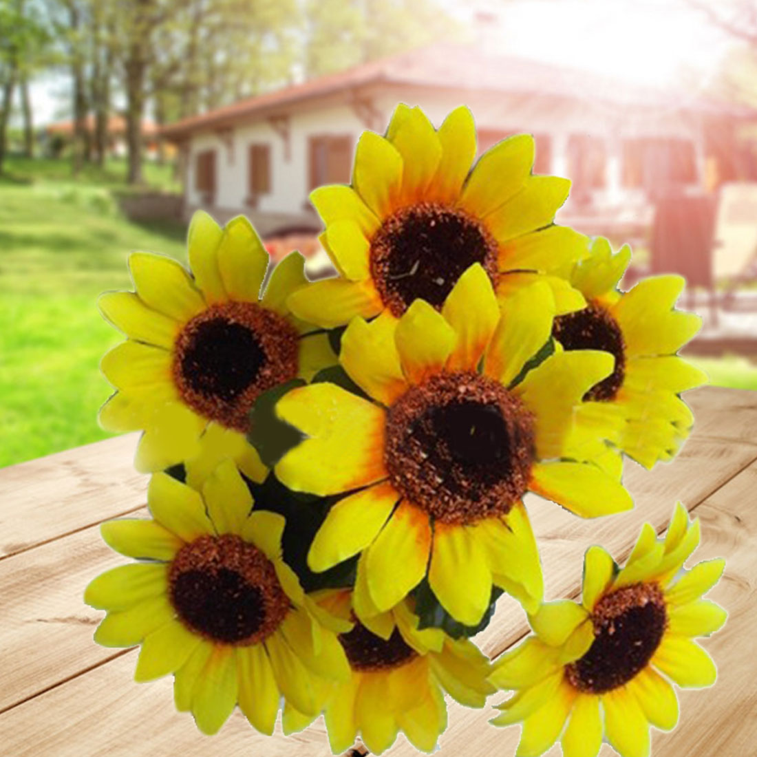 Compare prices on artificial sunflower bouquet online
