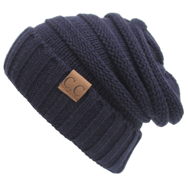 Basic Unisex Adult Warm Chunky Soft Stretch Cable Knit Beanie Cap Hat