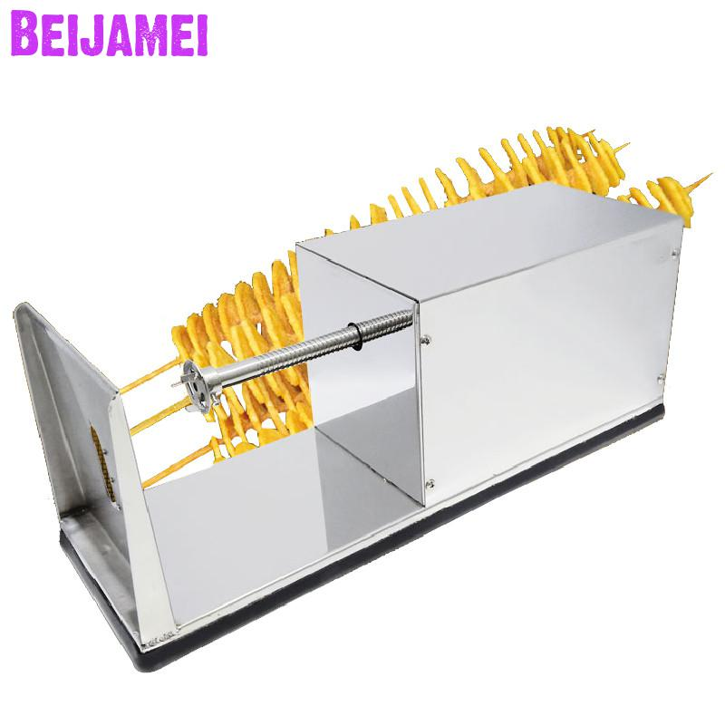 Beijamei Electric Twisted Potato Cutter Stainless Steel Potato Slicer Home Commercial French Fry Cutter Cutting MachineBeijamei Electric Twisted Potato Cutter Stainless Steel Potato Slicer Home Commercial French Fry Cutter Cutting Machine