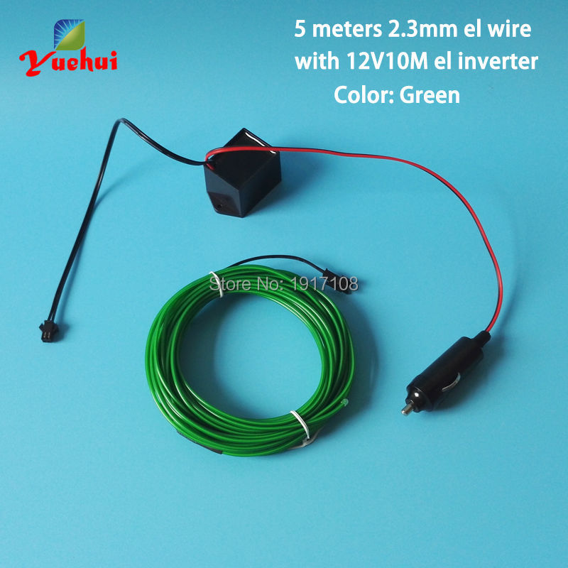 10 Color 2.3mm 5M Trendy Wedding Decor 12V Led Thread Sticker Indoor Decals Tags Accessory Flexible Neon Light EL Wire Rope Tube