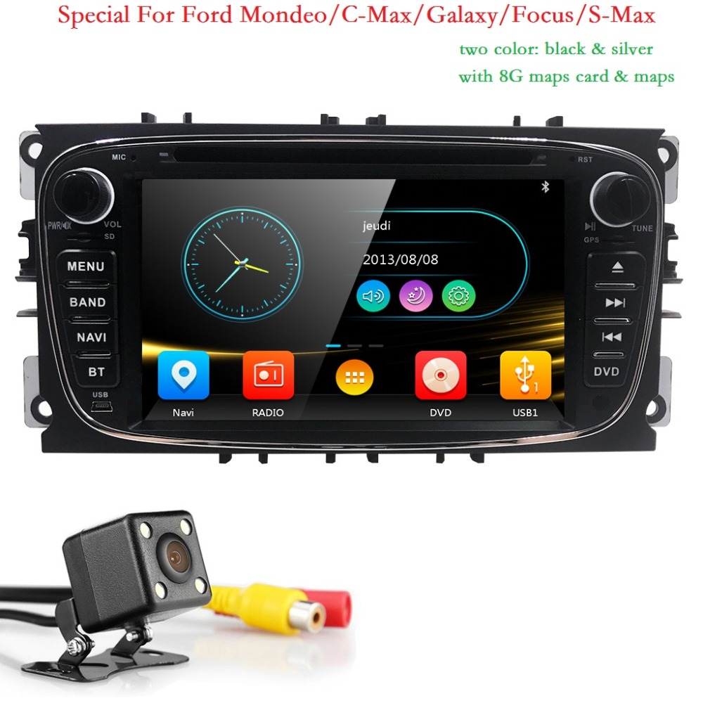 2 Din AutoRadio Car DVD Player For Ford Focus 2 3 C S Max Mondeo Galaxy 2008 2009 2010 2009 2010 Head unit Audio Ipod SWC BT 3G