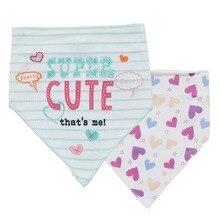 LionBear 2pcs/set Baby Bib Cotton 0-18 Months Newborn 100% Soft Feel Saliva Towel Burp Cloth Triangle Apron