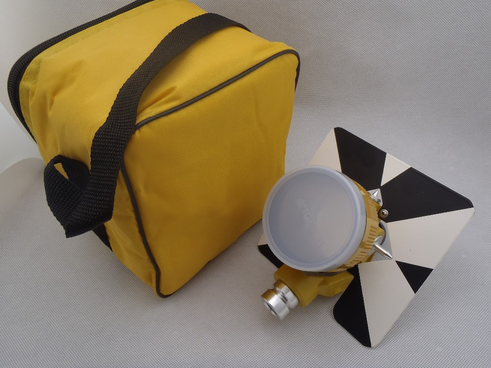 Single Prism (0mm )offset with yellow Bag for total station =free shipping люстра kolarz san daniele 0141 86 2