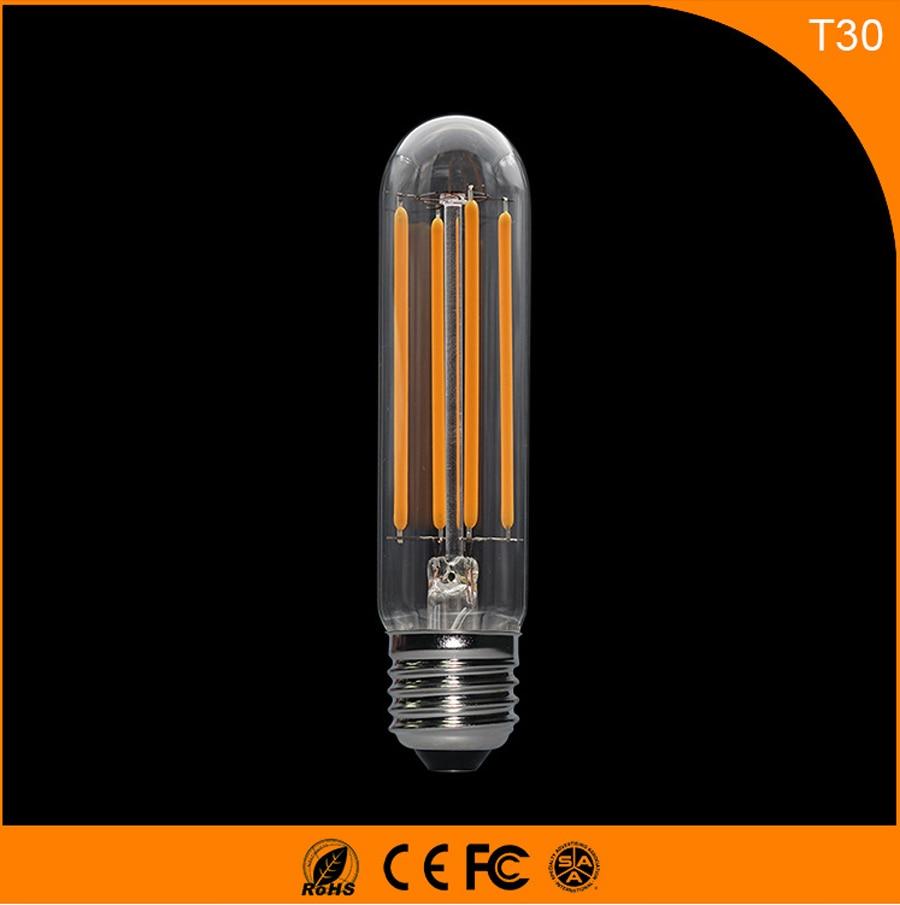 50PCS 4W E27 B22 Led Bulb, T30 LED COB Vintage Edison Light ,Filament Light Retro Bulb AC 220V 5pcs e27 led bulb 2w 4w 6w vintage cold white warm white edison lamp g45 led filament decorative bulb ac 220v 240v