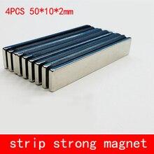 4 шт./лот 50x10x2 мм N35 супер сильный Блок кубовидной неодимовые магниты 50*10*2 мм редкоземельных мощный магнит