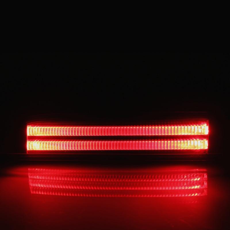SNCN LED Rear Bumper Lights for Honda CR-V CRV 2007~2009 City 2012~2014 BR-V 2015 2016 BRV Braking lights driving lamp car rear trunk security shield shade cargo cover for honda cr v crv 2007 2008 2009 2010 2011 black beige