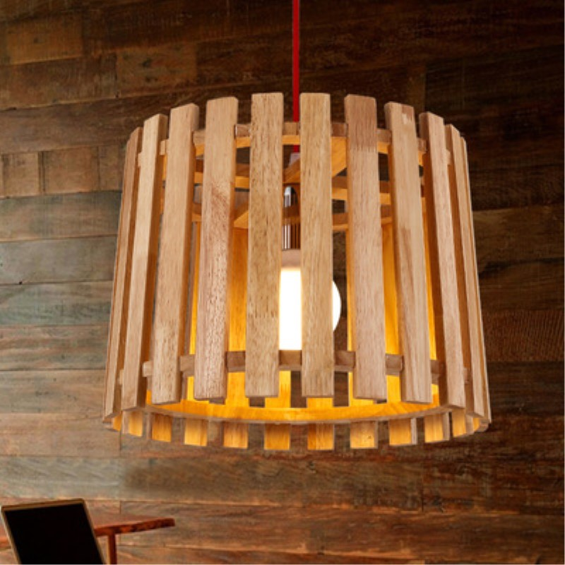 Modern Style Wood Dining Room Pendant Light Wood Bar / Cafe Decoration Light Free Shipping 3 6 head modern contracted janpen style wood pendant light metal cover dining room light study light ac90 265v free shipping