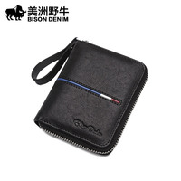 Buffalo Leather Wallet Short Leather Wallet Purse Multi Korean Youth Card Card Package Male