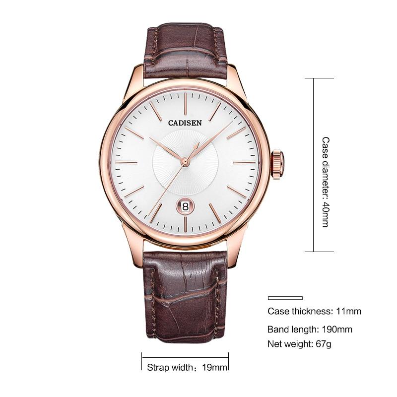 Neue Herren Uhren Luxus Top Marke CADISEN Mode Mechanische uhr Männer Casual männer Automatische Armbanduhren uhren hombre 2019-in Mechanische Uhren aus Uhren bei  Gruppe 2
