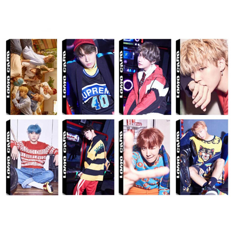 30 Pcs/set Hot Sale Bts Bangtan Boys Album Lomo Cards New Fashion Self Made Paper Photo Card Photocard