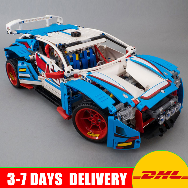 IN Stock Lepin 20086 Blue Racing Car+20077 Technic Series The Rally Car Set Building Blocks Bricks Compatible 42083 42077 lepin 21010 914pcs technic super racing car series the red truck car styling set educational building blocks bricks toys 75913