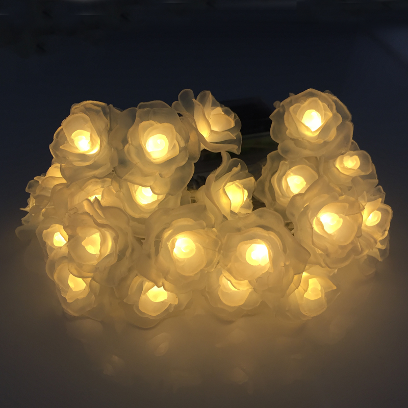 LED Fairy String Rose Lights 2.2M 20leds Home Outdoor Decoration Christmas Holiday Party guirlande lumineuse Tree Light