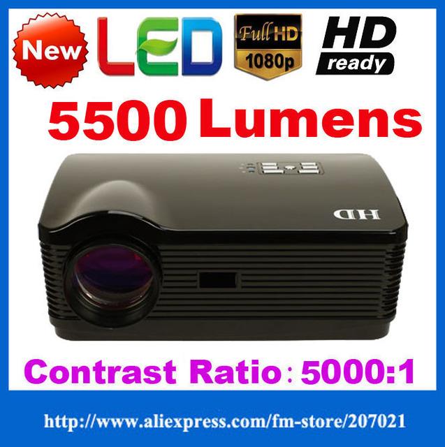 ATCO 5500 Lumens 1080 p home theater Projetores de Vídeo 3D Led TV LCD Projektor proyector Beamer Full HD 1280*800 para KTV, Bar