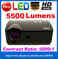 ATCO 5500Lumens 1080p home theater 3D Video Led LCD TV Projectors Projektor proyector Beamer Full HD 1280*800 for KTV,Bar