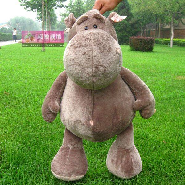 Stuffed jungle series animal 80cm jungle hippo plush toy doll high quality gift present w1354
