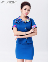 3 Color Women Sexy Stewardess Uniforms Ladies Air Hostess Flight Attendant Halloween Costumes Party Cosplay Top