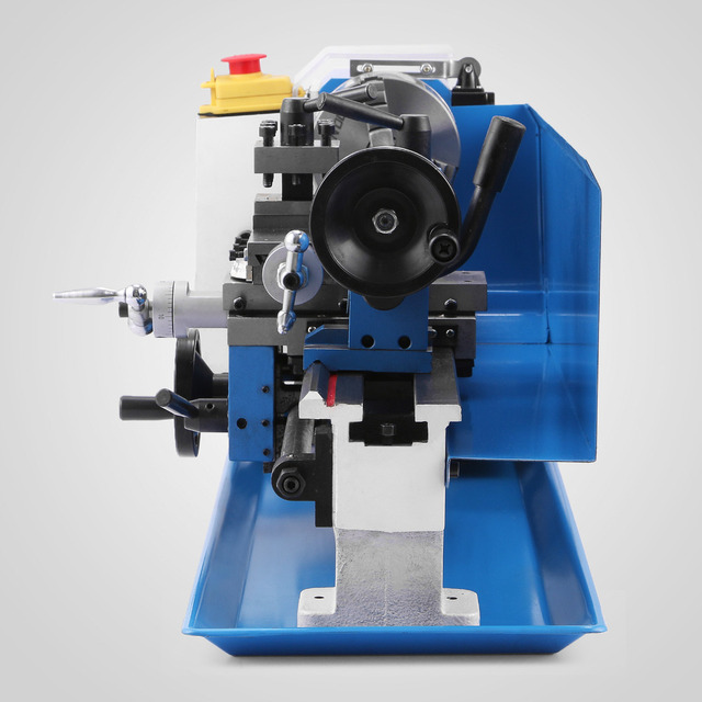 Equipped with Plastic Nylon Gears High Precision Mini Metal Lathe Metalworking Variable Speed Tooling Infinite 550W mini lathe 1