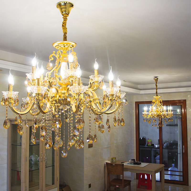 Gold Crystal Chandelier For Living Room Led Chandelier