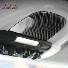 AMBERMILE для Mini Cooper F55 F56 Countryman F60 аксессуары салона углеродного волокна Чтение свет крышка наклейки украшения
