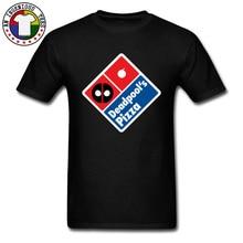Deadpool Pizza Logo Design T Shirts USA Marvel Captain America Dead Pool Black Mens Tshirts 100% Cotton Bodybuilding T-Shirt цена в Москве и Питере