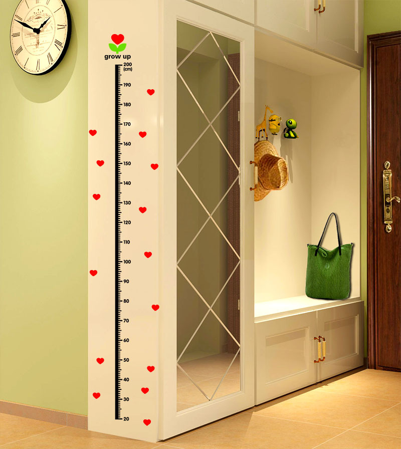 Undersea Animals Heart Children Height Measurement For Kids Bedroom Children Height Measuring Tools Accessories